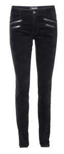 Silk pant velour color black