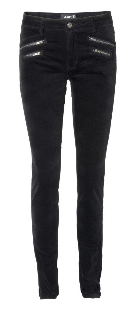 Silkpant velourcolor black